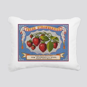 EVERDELLS STRAWBERRIES Rectangular Canvas Pillow